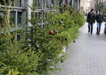 Одесса становится все более новогодней