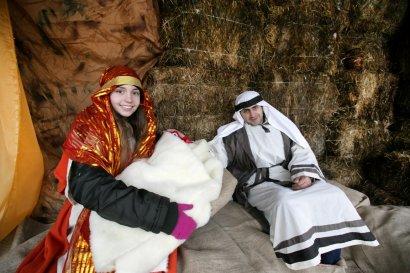 На Дерибасовской — Мария с Иосифом и младенцем (фото)