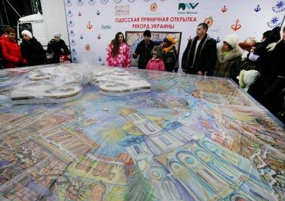 Одесский пряник-гигант удостоен Книги рекордов Украины