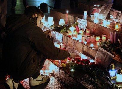 Одесситы у Дюка прощались со Скрябиным (фото)