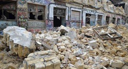 В Одессе, на улице Пишоновской обрушился флигель жилого дома