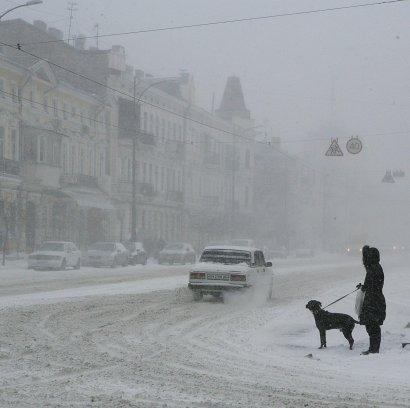 Одессу заметает снегом