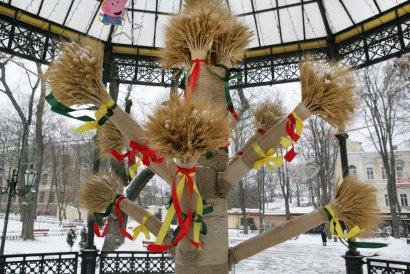 В Одессе появился Дидух — символ достатка и благополучия (фото)