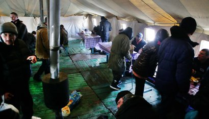 Как работает пункт обогрева в в Преображенском парке в Одессы