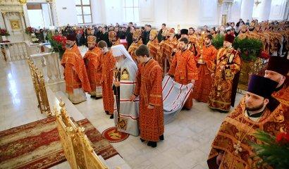 В Свято-Преображенском кафедральном соборе прошла торжественная служба в честь Дня Ангела митрополита Агафангела