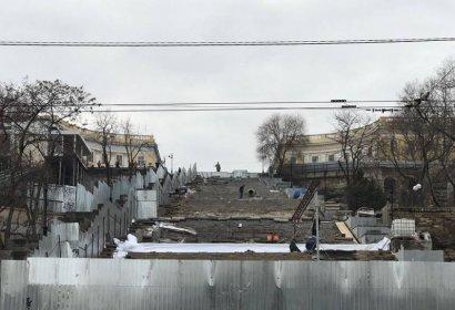 Максим Степанов прокомментировал ход реконструкции Потёмкинской лестницы