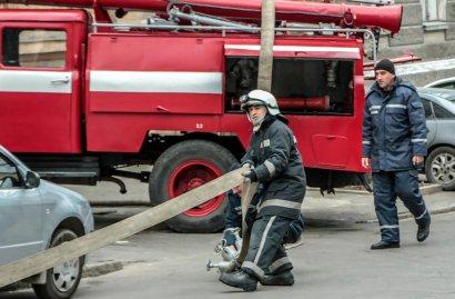 Пожар в Одессе по ул. Княжеской