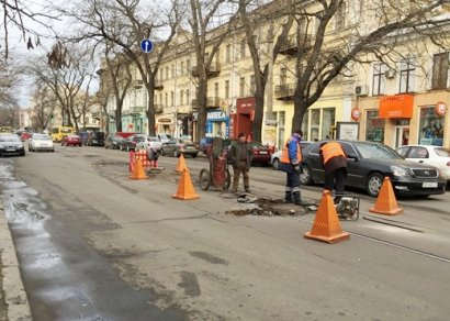 В Одессе капитально ремонтируют улицу Преображенскую (фото)