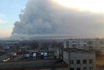 Над местом пожара в Балаклее закрыто воздушное пространство