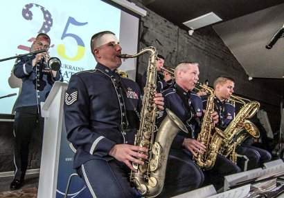 Пресс-конференция джаз-бэнда оркестра ВВС США в Европе «AMBASSADORS»