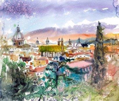 Одесса – Фабриано: акварельное путешествие
