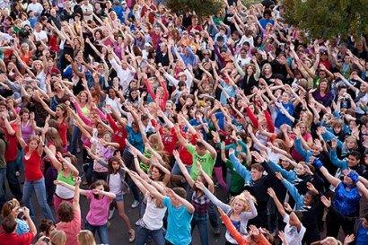 «В здоровом теле – здоровый дух». Сегодня в Одессе состоялся общегородской флешмоб-зарядка