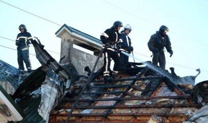 Во время пожара в частном секторе погиб человек