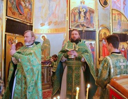 В храме Святой мученицы Татианы прошло торжественное богослужение в честь Вербного Воскресения