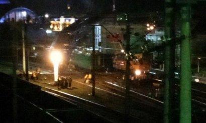 Появилось фото с места столкновения поездов во Львове