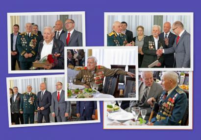 В Доме приемов прошел торжественный прием ветеранов по случаю Дня памяти и примирения и 72-й годовщины победы над нацизмом во Второй мировой войне