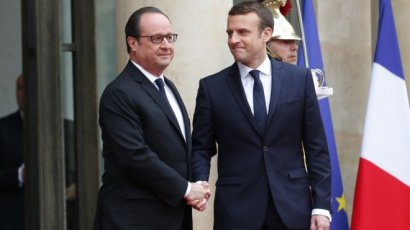 Инаугурация в Париже: Макрон  в костюме за 450 евро