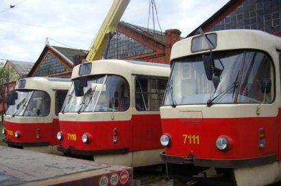 Приостановленно движение сразу 4-х трамваев