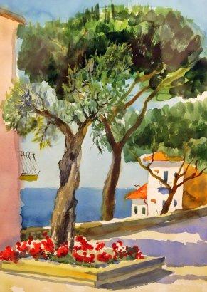 Выставка акварельных работ «Итальянский Пленэр»
