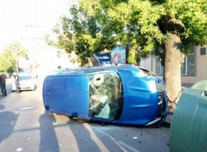 Серьёзная авария произошла накануне в самом центре города
