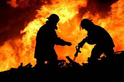 На Куликовом поле тушили пожар