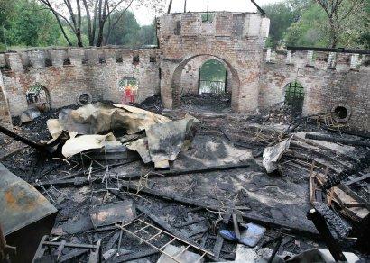В Одессе сгорела крепость