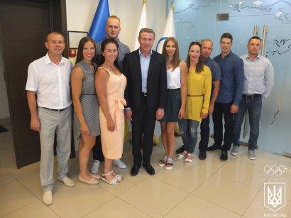 В Национальном олимпийском комитете Украины чествовали чемпионов