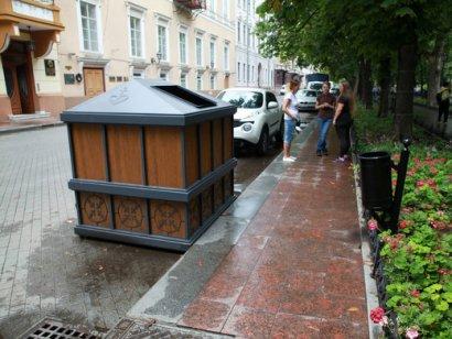 Своеобразные «саркофаги» закроют мусорные контейнеры в центре Одессы