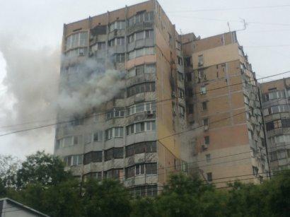 Масштабный пожар произошел сегодня на жилмассиве Таирова