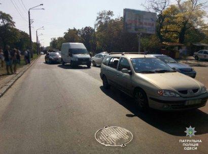Сразу три автомобиля попали в ДТП в Одессе