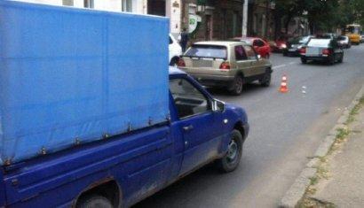 Автомобиль наехал на женщину в центре города