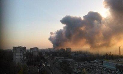 В Одессе горела СТО