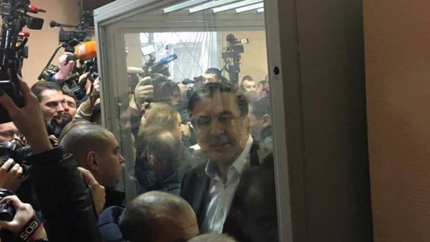 Тимошенко пришла поддержать Саакашвили всуде