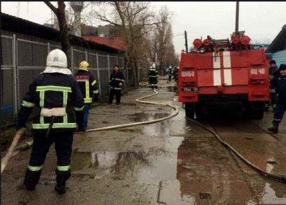 Серьезный пожар произошел накануне в Затоке