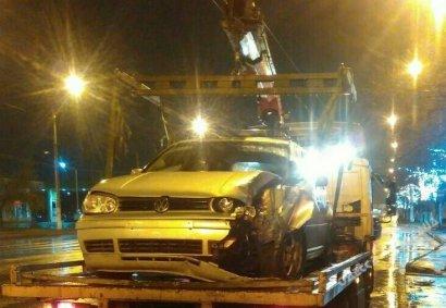 Еще один светофор в Одессе пострадал от встречи с автомобилем