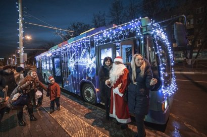 Завтра в Одессе пройдет новогодний парад троллейбусов всех поколений