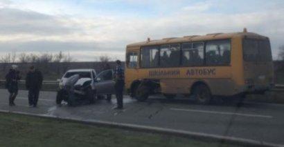 В Одесской области в аварию попал пассажирский автобус
