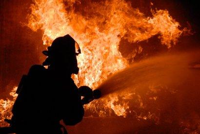 Серьезный пожар произошел на Французском бульваре