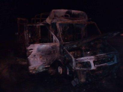 Под Одессой внезапно сгорел автобус