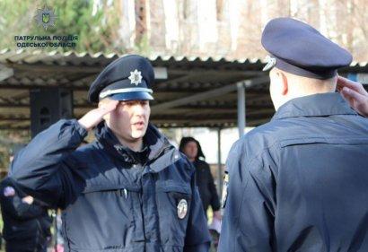 Более трех десятков новобранцев-полицейских накануне Нового Года принесли присягу на верность народу Украины