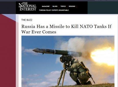 The National Interest: Российские противотанковые ракеты бьют в четыре раза дальше американских «Джавелинов»