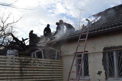 Серьезный пожар произошел накануне на Молдаванке
