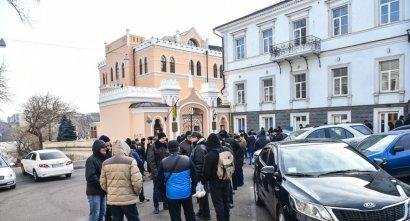 Митинг охранников Одесского порта