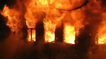 Сразу два дома сгорели сегодня в Крыжановке