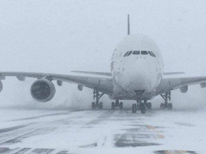 Несмотря на снег и буран, одесский аэропорт продолжает работать