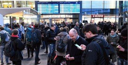 Немецкая железная дорога из-за урагана отменила международные рейсы