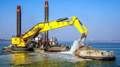 В порту Южный закончены работы по дноуглублению
