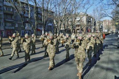 Ветераны АТО маршем прошли по центру города.
