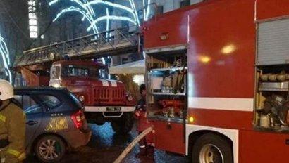 Серьезный пожар произошел сегодня утром на Дерибасовской