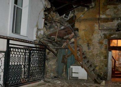 Очередное обрушение произошло сегодня в Одессе
